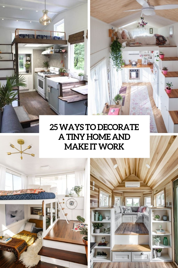 ways to decorate a tiny home and make it work cover