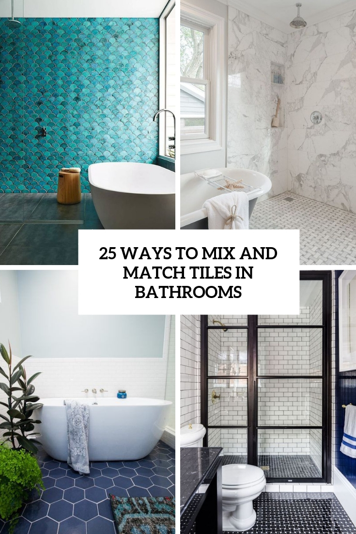 ways to mix and match tiles in bathrooms cover
