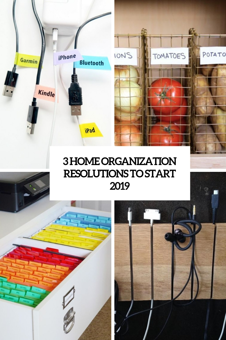 3 home organization resolutions to start 2019 cover