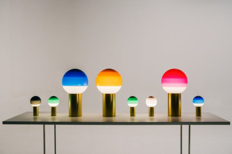 Dipping Lighting is a series of color block table lamps that will bring a trendy and bold touch