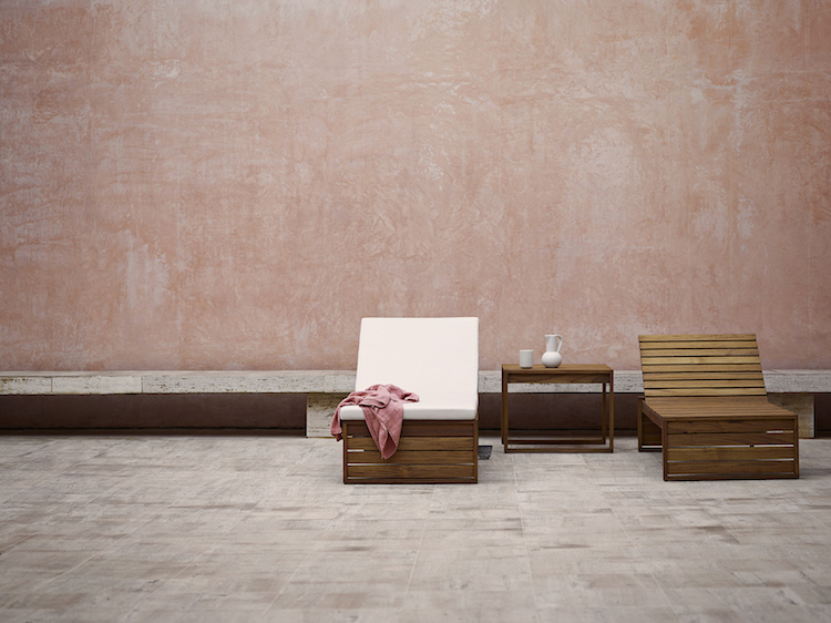 Indoor Outdoor furniture collection is a re edition of 1959 furniture series inspired by Cubism