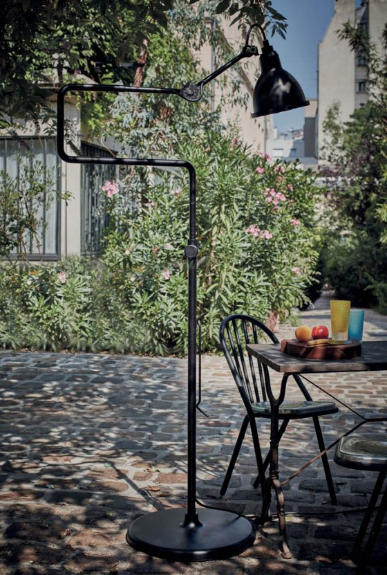 Lampe Gras Outdoor is a reincarnation of a 1921 one, which brings a cozy feel to the space