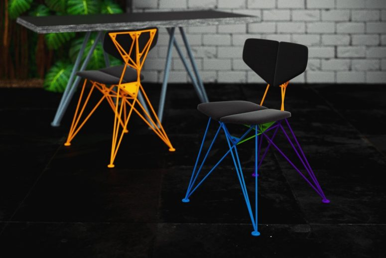 Colorful Geometric Star Chair For A Statement