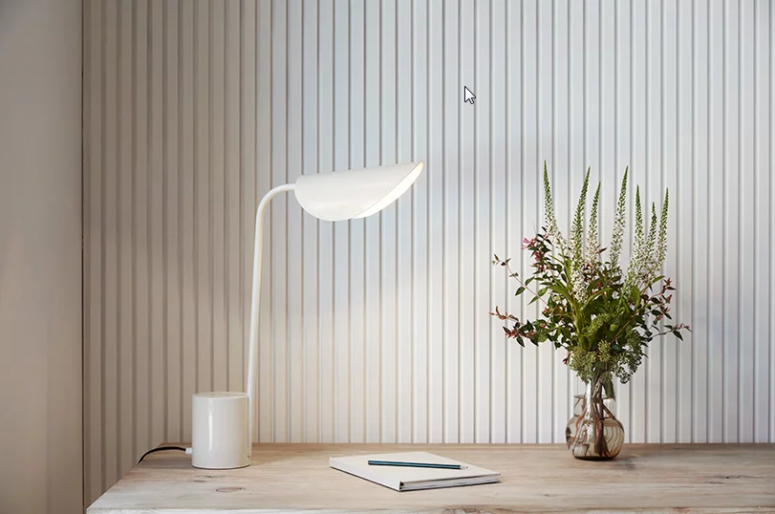 This lamp is called Lumme and it's inspired by the beauty and delicate lines of water lilies