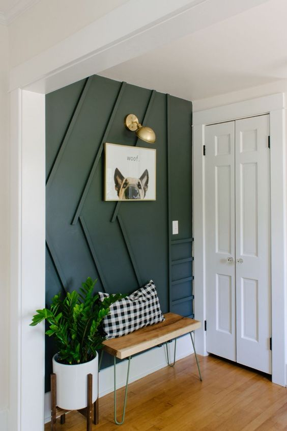 just one statement wall with paneling is a statement idea for any entryway that gives it an edge