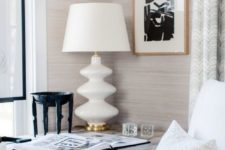 02 neutral printed wallpaper is a great idea to spruce up your home office adding elegance