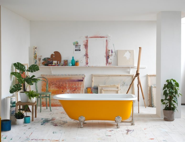 Choose a clawfoot bathtub that you like and a color that is proper and go