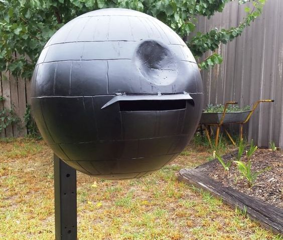 a Death Star mailbox will show off your passion and favorite films while being a unique and cool outdoor decor piece