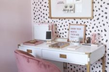 05 a statement wall done with cheetah wallpaper is a gorgeous and playful idea for a girlish space