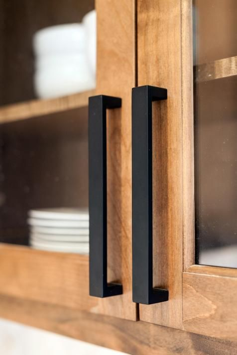 go modern with matte black handles of a large scale like here