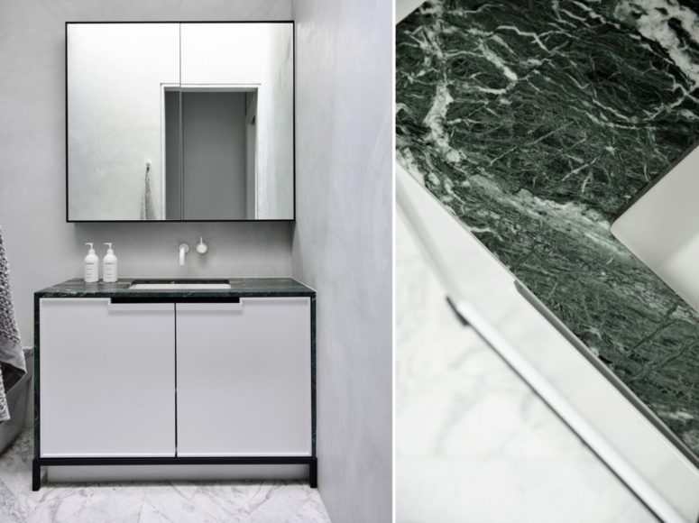 Marble adds elegnce to the kitchen and bathrooms
