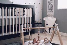 08 a dark celestial statement wall is a gorgeous modern idea for any nursery, looks so cute