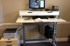10 a modern standing workstation with an Ekby Alex unit put on it to make a standing desk