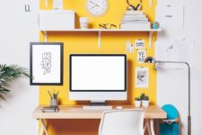 10 highlight your home office nook with sunny yellow on the wall to visually separate it