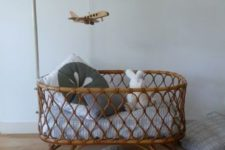11 a rattan cradle is a cool boho inspired idea, which will make a stylish statement in your nursery