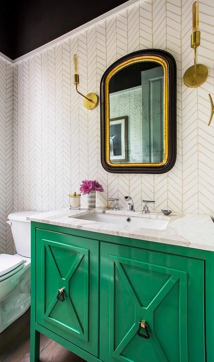 25 Ways To Add Color To Your Bathroom Without Going