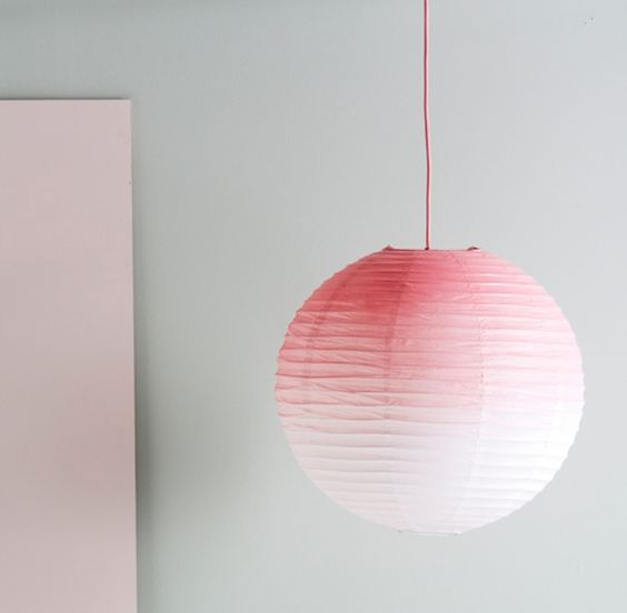 ombre is a hot trend, make a Regolit lampshade edgy with some bright spray paint on it