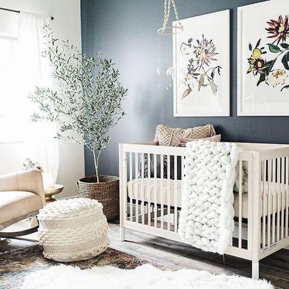 boho rugs, wicker items, some botanical artworks and chunky knit for a boho space