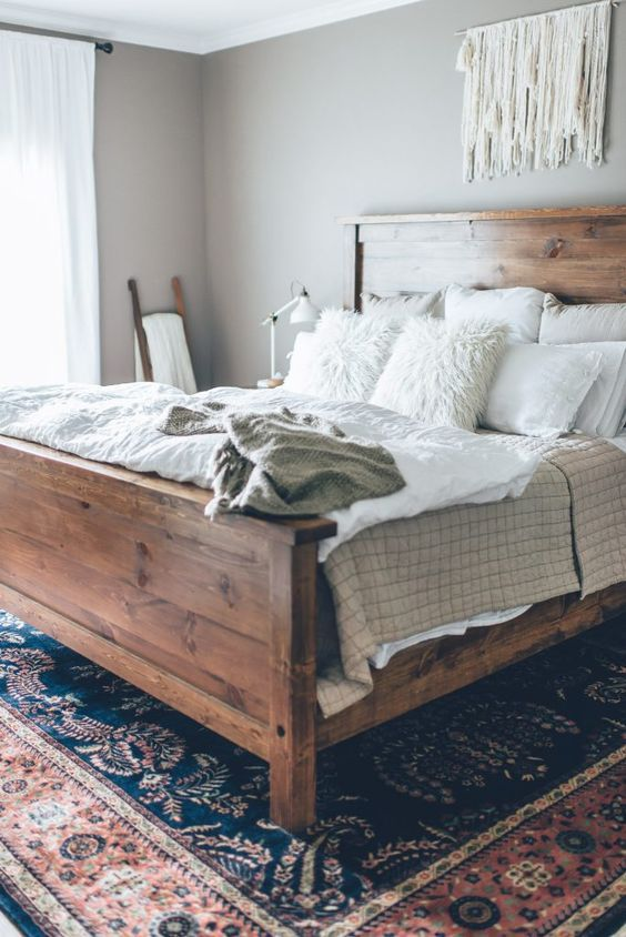 create layers of crochet, faux fur and various fabrics to make the bed more inviting and catchy