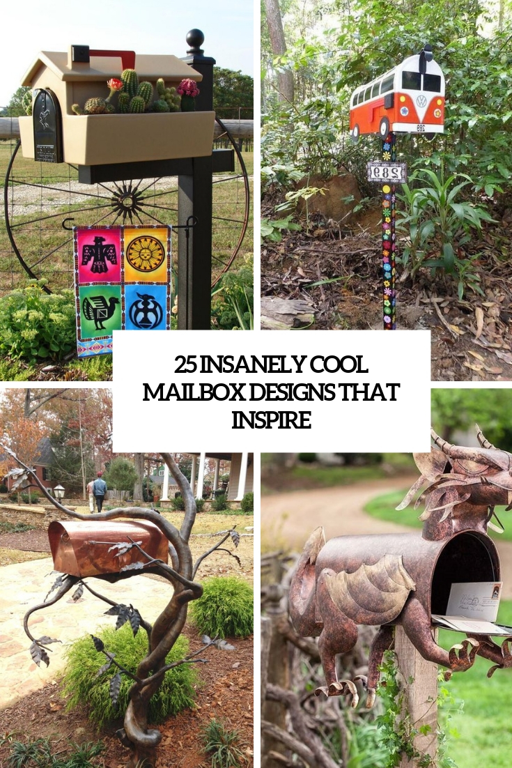 25 Insanely Cool Mailbox Designs That Inspire
