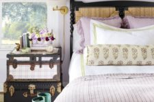 25 lilac curtains, pillows and a blanket are simple and cute accessories for a woman's bedroom