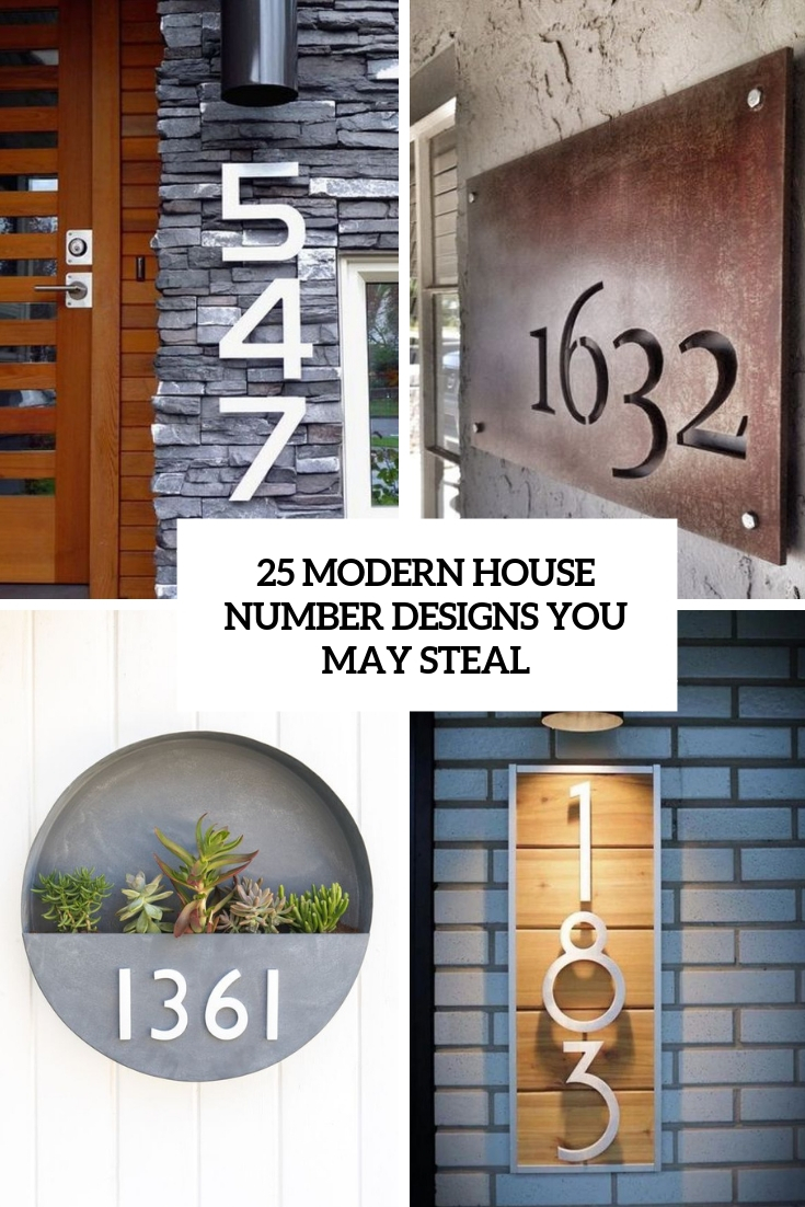 25 Modern Home Design With Wood Panel Wall: 25 Modern House Number Designs You May Steal