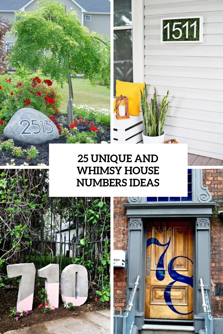unique and whimsy house numbers ideas cover