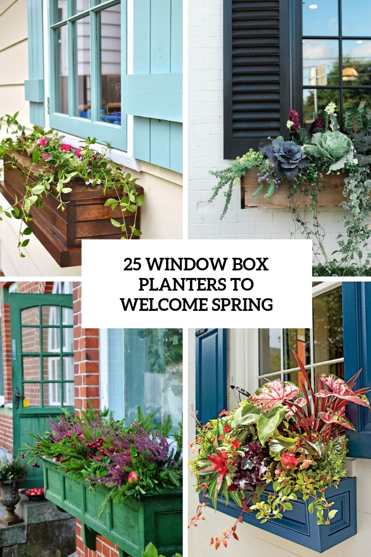 25 Window Box Planters To Welcome Spring