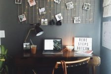 26 a grid with lights and pics is a gorgeous decor idea that can become a bold statement at once