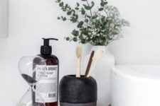 26 even a minimalist bathroom will profit from chic and bold accessories like these ones