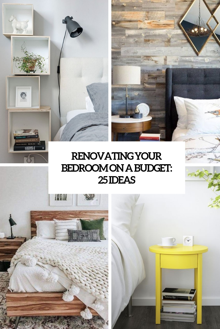 renovating your bedroom ona  budget 25 ideas cover