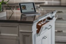 03 a drawer in your kitchen island is a tiny charging station that can be hidden anytime you don't need it