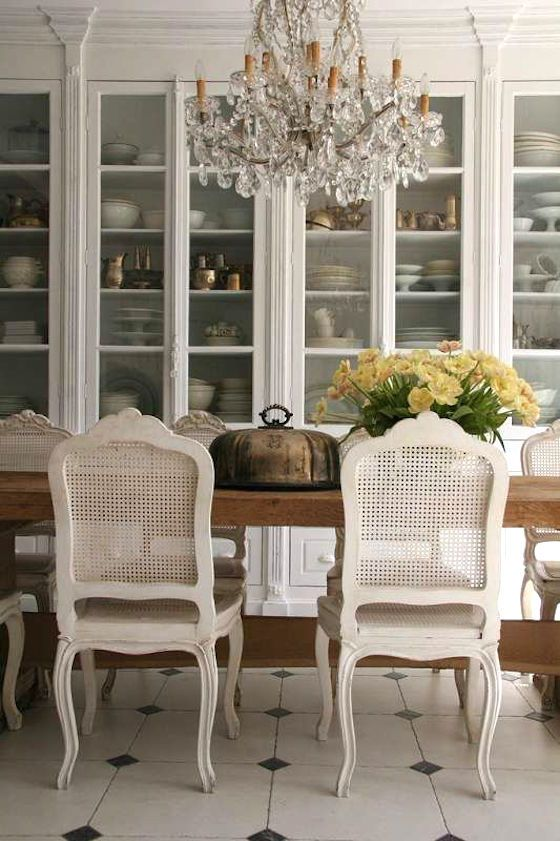 ivory vintage cane back dining room chairs will bring an ultimate exquisite feel to the space