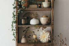 07 a rustic pallet shelf built of pallet wood and stained in a rich tone is a stylish storage furniture piece for many spaces