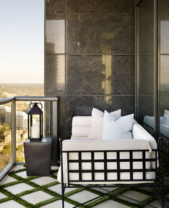 tiles with grass in between bring a modern and laconic, yet natural feel to your outdoor space