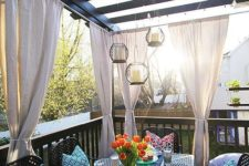 14 metal furniture always works for outdoors, it's very durable, just choose a basic color to rock it every year