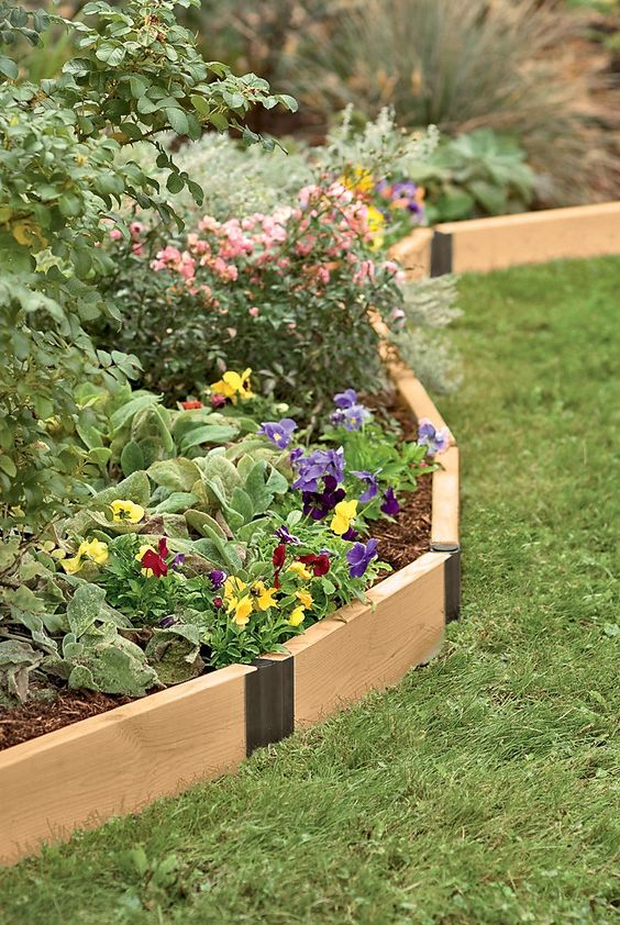 25 Stylish Garden Bed Edging Ideas Digsdigs