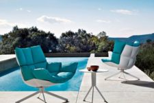 19 such furniture is cool for both indoors and outdoors, it's contemproary and bold