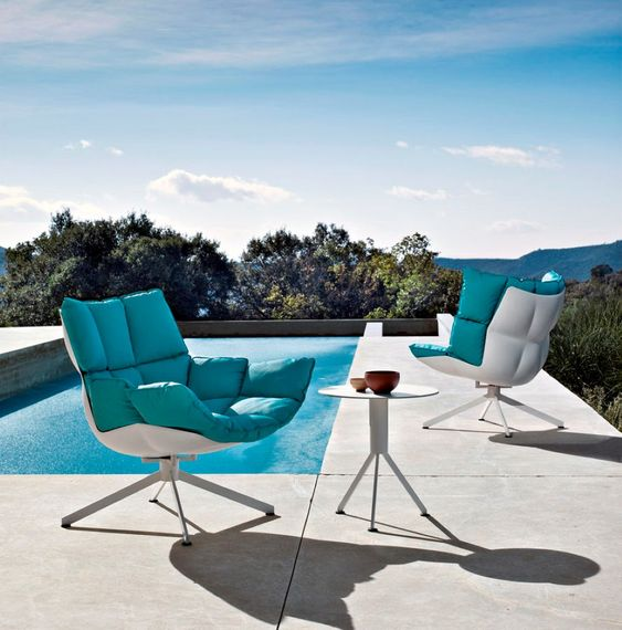 such furniture is cool for both indoors and outdoors, it's contemproary and bold