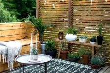 21 go easy rocking potted plants – they are easy to take inside and can be changed anytime