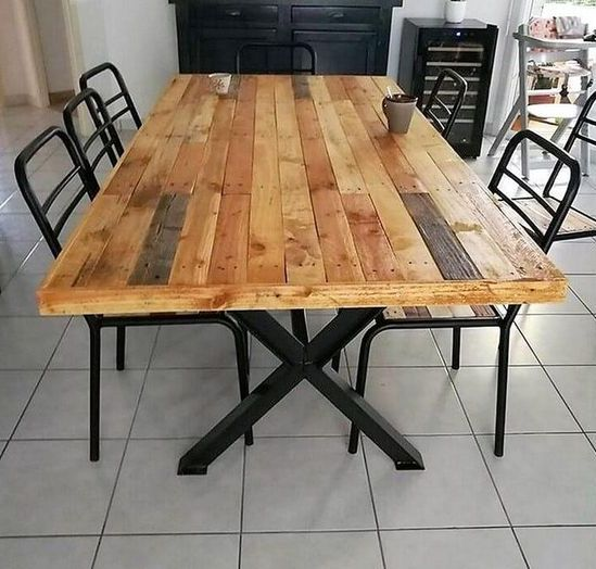 25 Pallet Dining Tables That Inspire Your Crafting Digsdigs