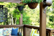 23 if you don't have much floor space, just hang the planters over the deck