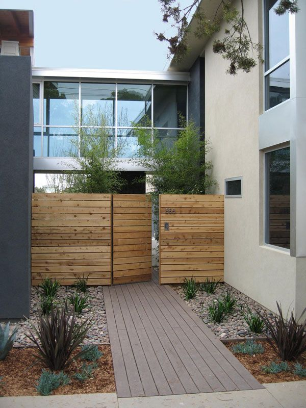 skip the blooms and keep the plants to only grasses and other types of greenery to achieve a modern feel