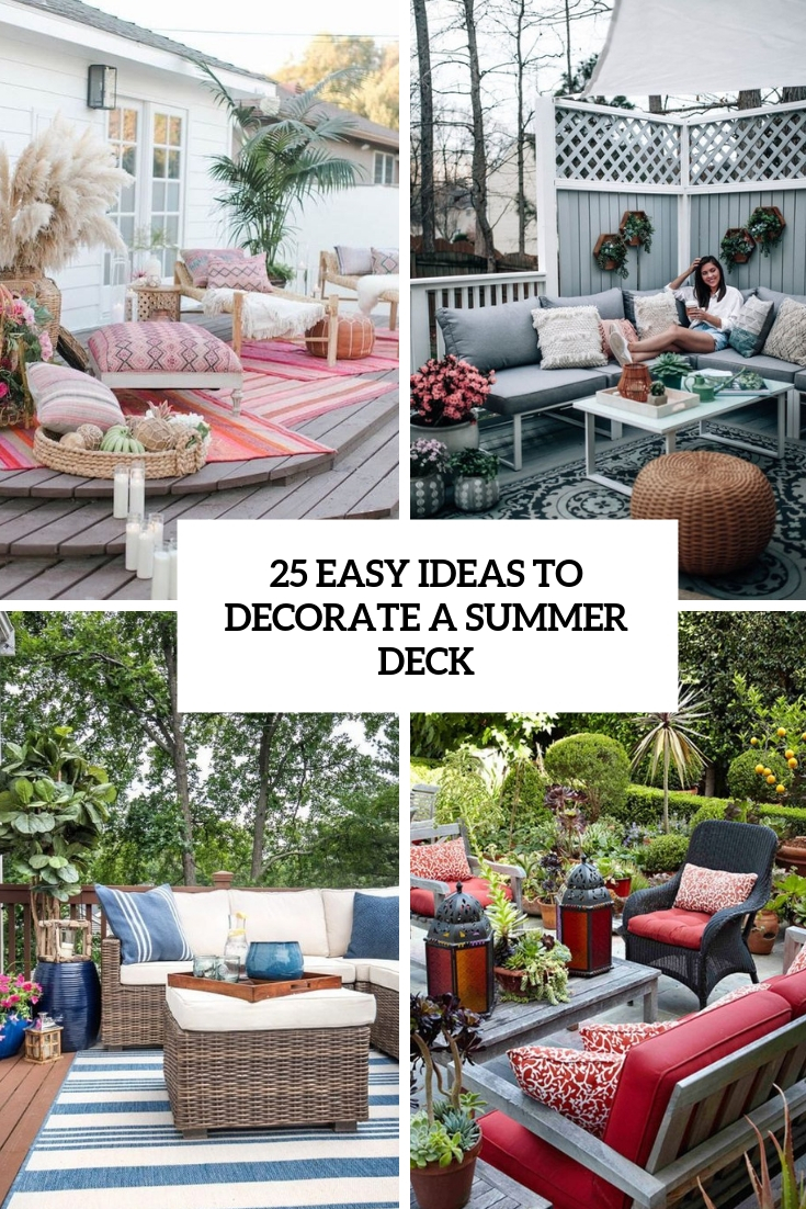25 Easy Ideas To Decorate A Summer Deck