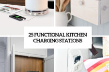 25 functional kitchen charging stations cover