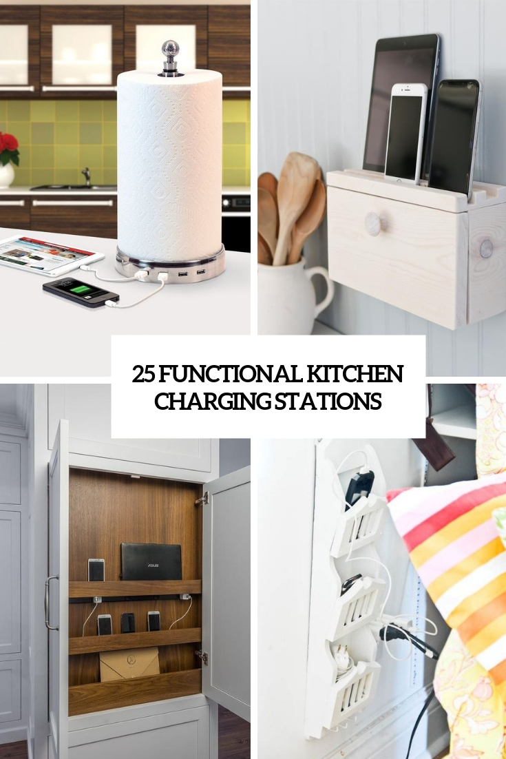 functional kitchen charging stations cover