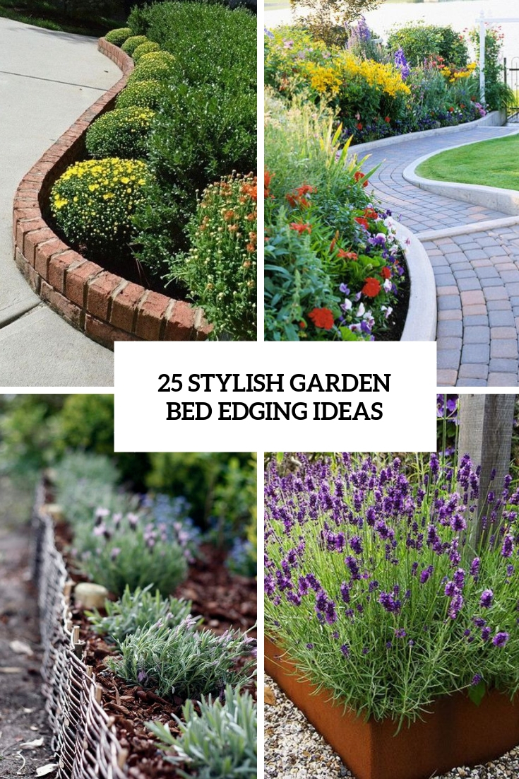 25 Stylish Garden Bed Edging Ideas
