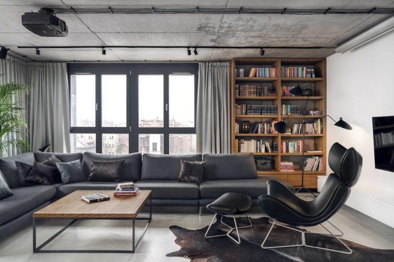 Contemporary Penthouse With Industrial Touches