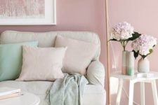 02 blush as the main color, cream as a secondary one and mint as an accent shade to rock