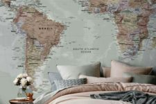 04 if you don't know how to fill a blank wall, try a map – it's very creative and you can mark the place you visited there